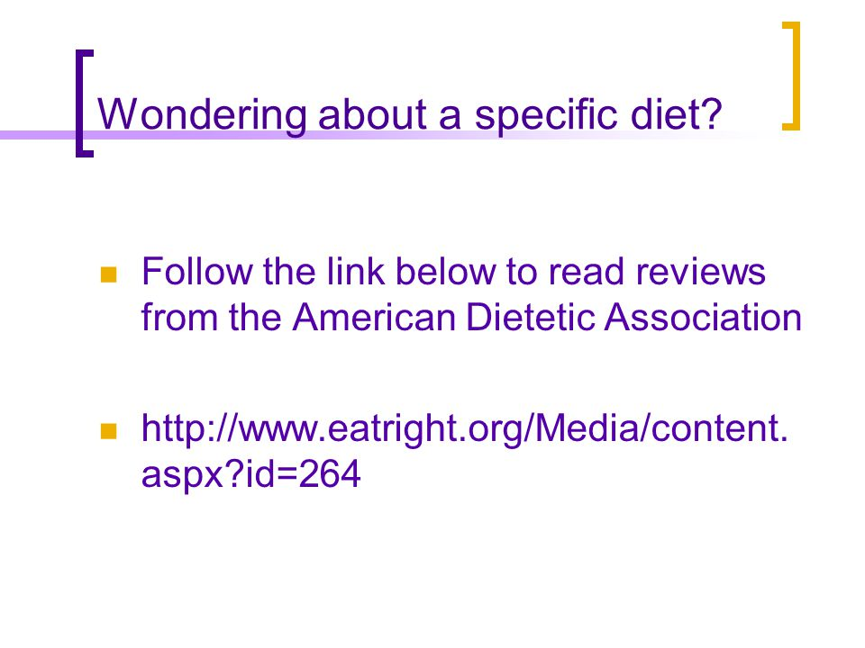 Brief review of some popular diets Atkins diet; A high protein, high fat, very low carbohydrate diet The diet has undergone several modifications to better define the type of fats consumed and to allow so called good carbs.