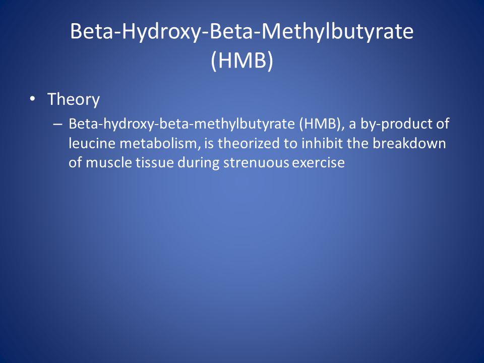Beta-Hydroxy-Beta-Methylbutyrate (HMB) Theory – Beta-hydroxy-beta-methylbutyrate (HMB), a by-product of leucine metabolism, is theorized to inhibit th