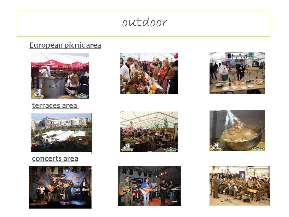 outdoor European picnic area terraces area concerts area