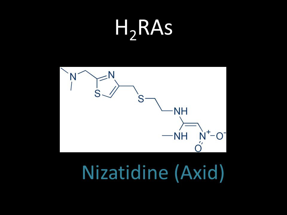 H 2 RAs Nizatidine (Axid)