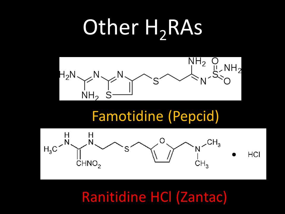 Other H 2 RAs Ranitidine HCl (Zantac) Famotidine (Pepcid)