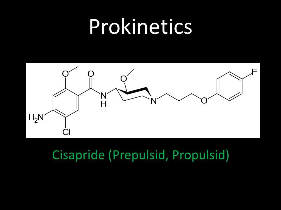 Prokinetics Cisapride (Prepulsid, Propulsid)
