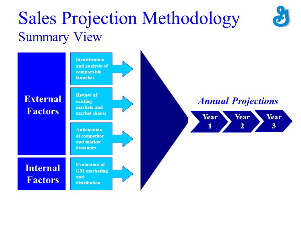 Sales Projection Methodology Summary View Identification and analysis of comparable launches Review of existing markets and market shares Evaluation o