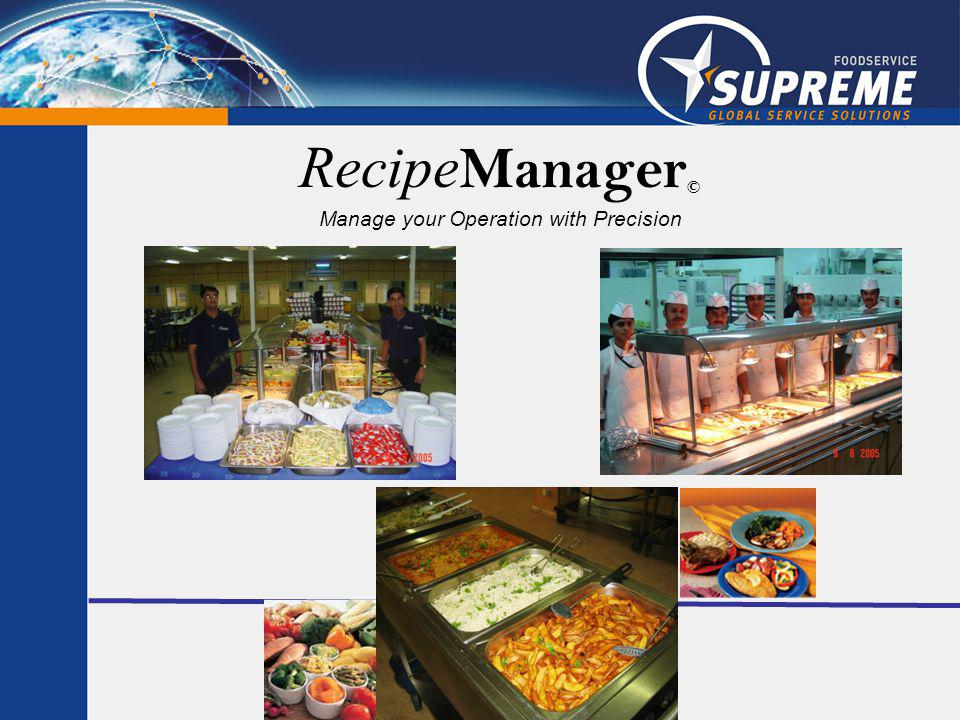 Recipe Manager © Manage your Operation with Precision
