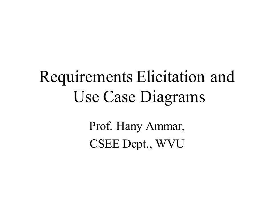 Requirements Elicitation Process 3.