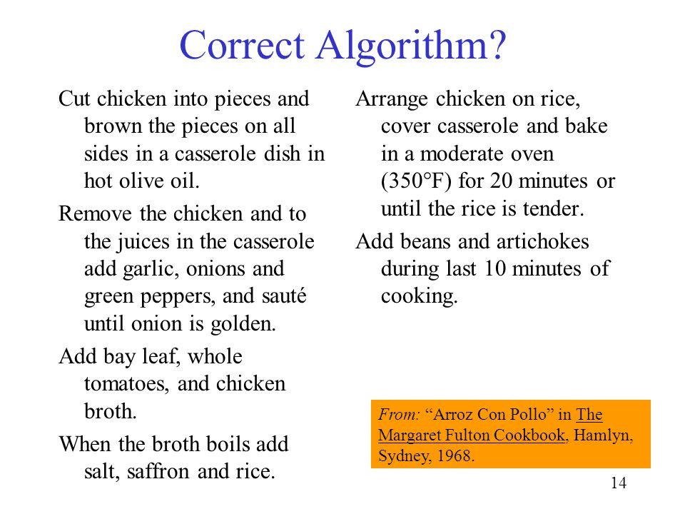 14 Correct Algorithm.