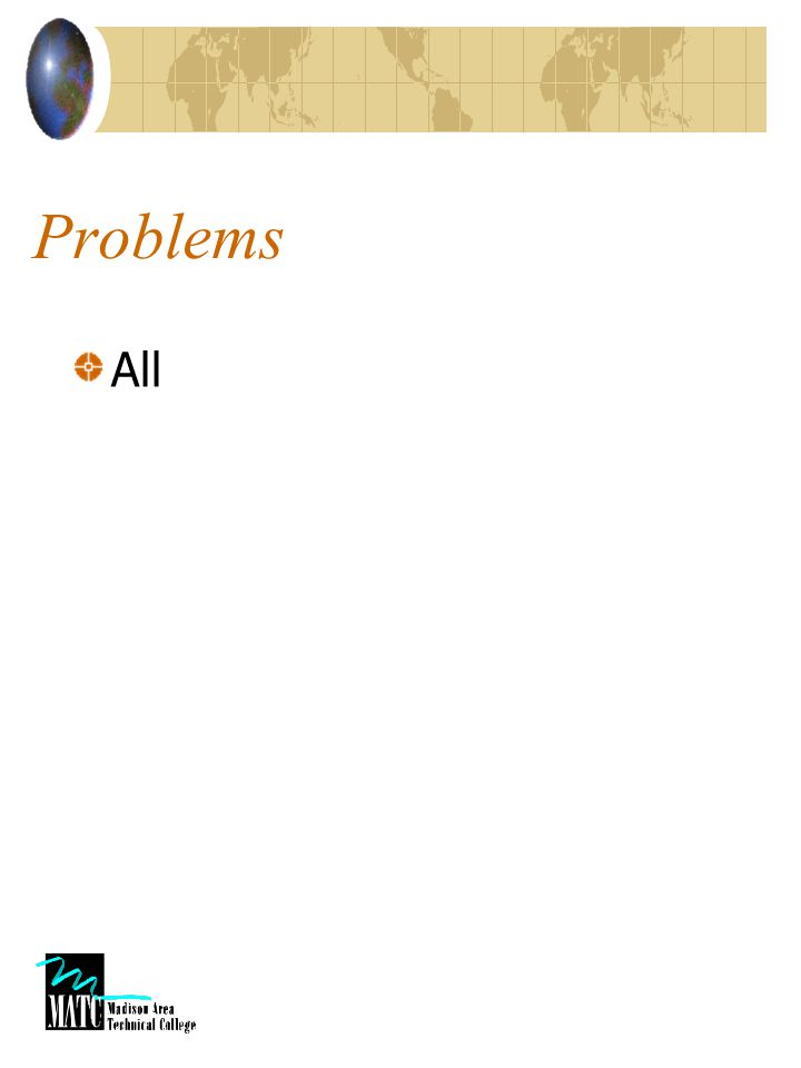 Problems All