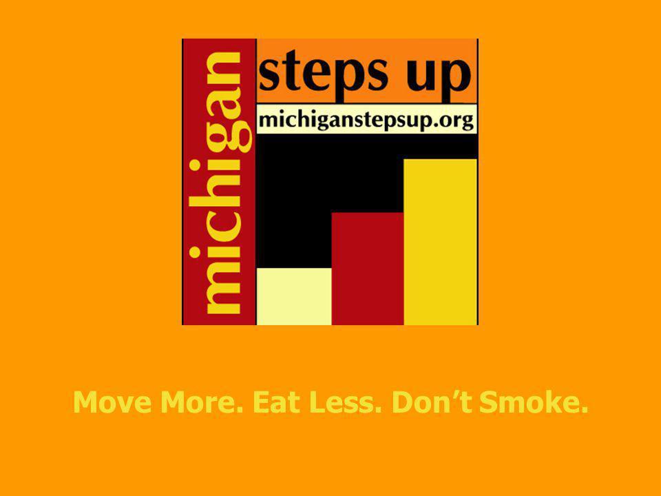 Move More. Eat Less. Dont Smoke.