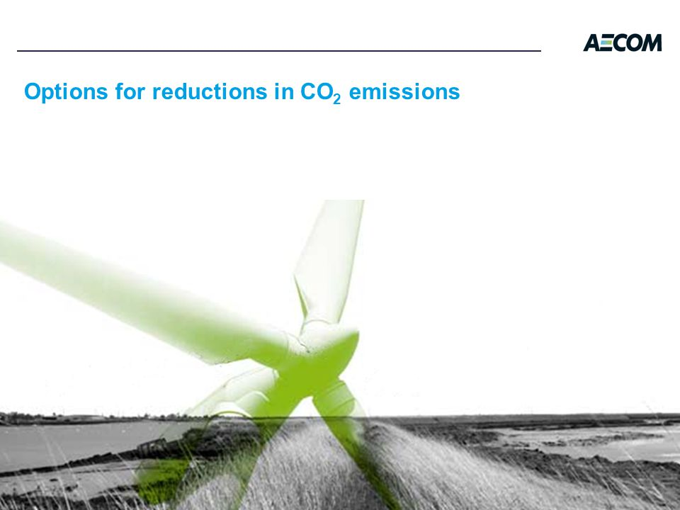 Options for reductions in CO 2 emissions