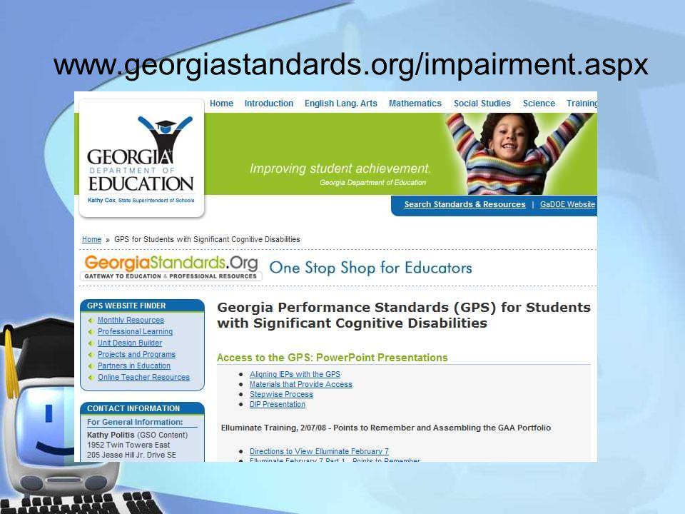 www.georgiastandards.org/impairment.aspx