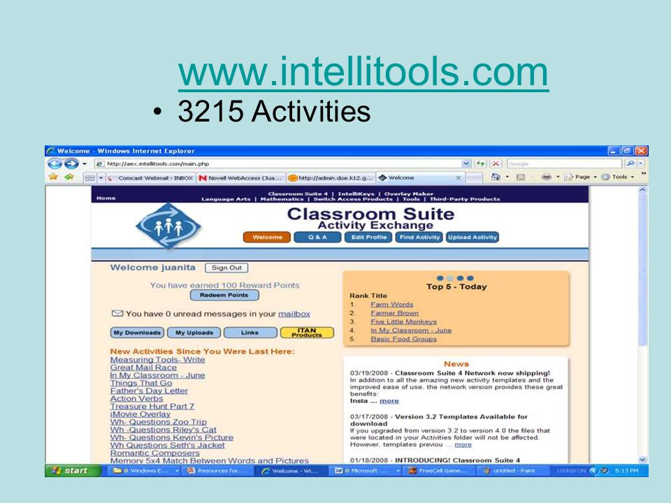 www.intellitools.com 3215 Activities