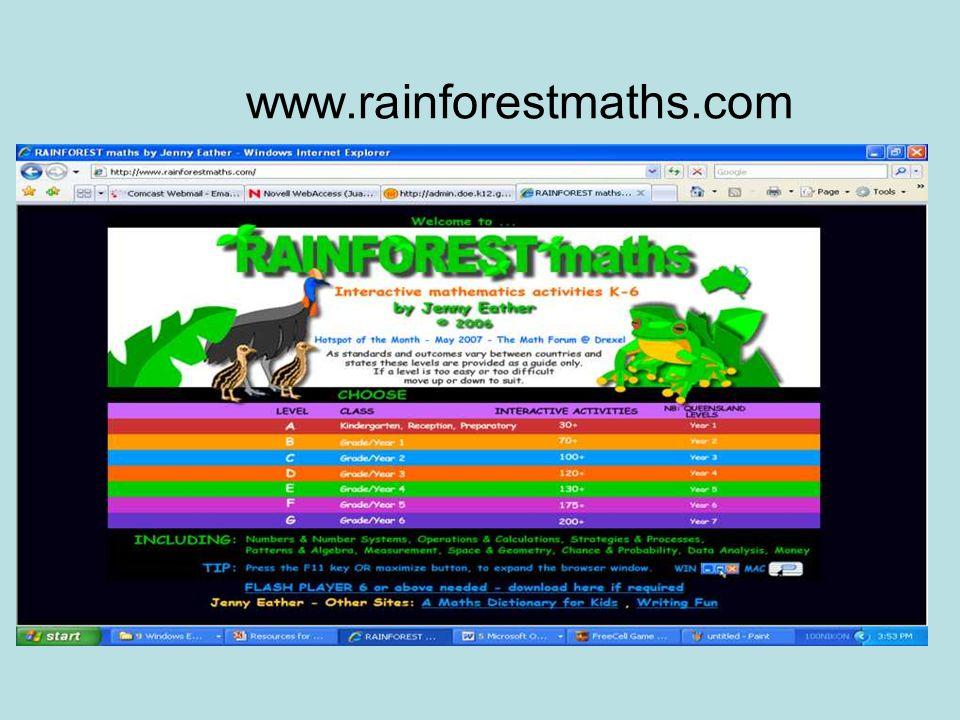 www.rainforestmaths.com