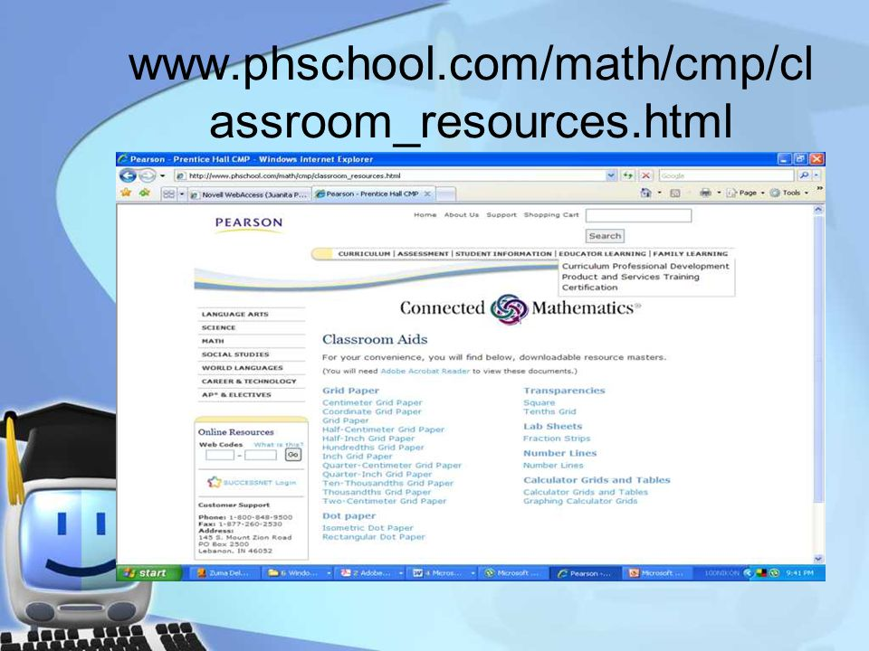 www.phschool.com/math/cmp/cl assroom_resources.html