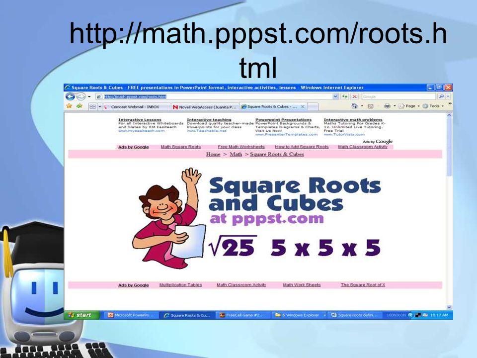 http://math.pppst.com/roots.h tml