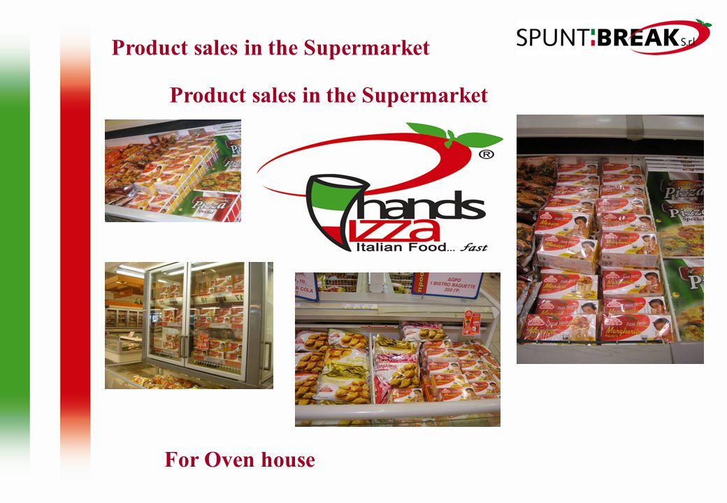 For Oven house Product sales in the Supermarket