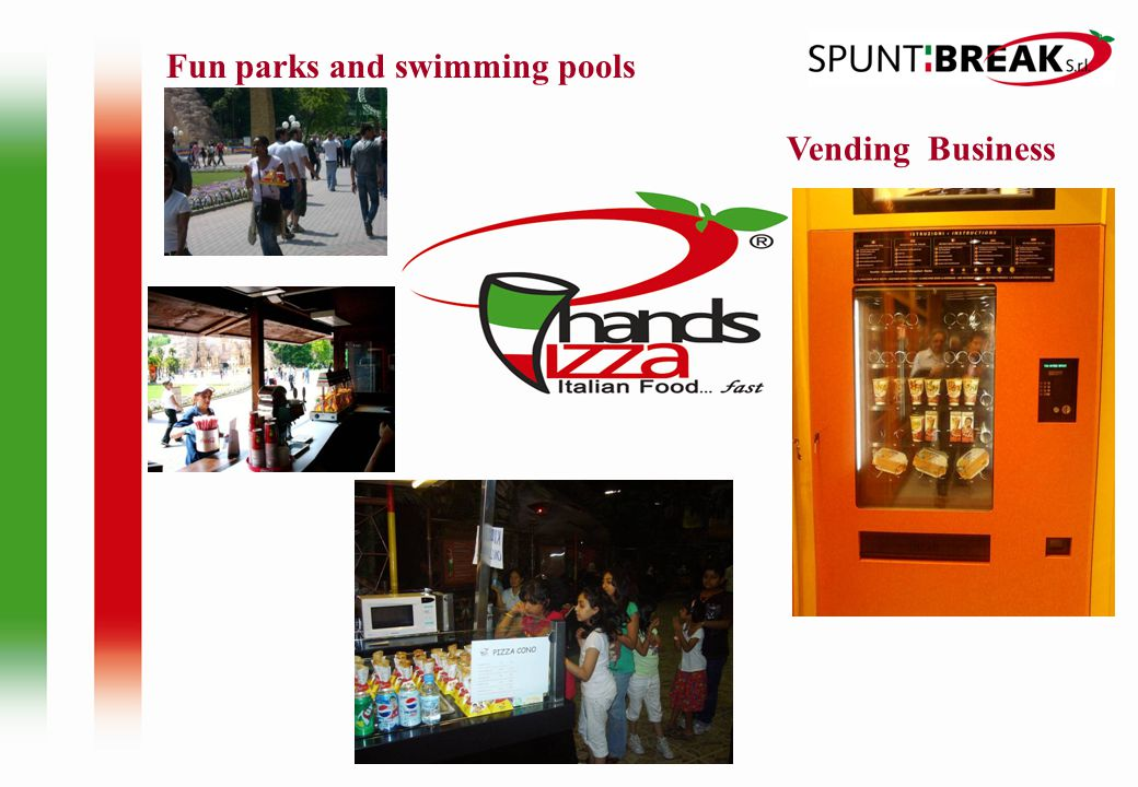 Vending Business Fun parks and swimming pools
