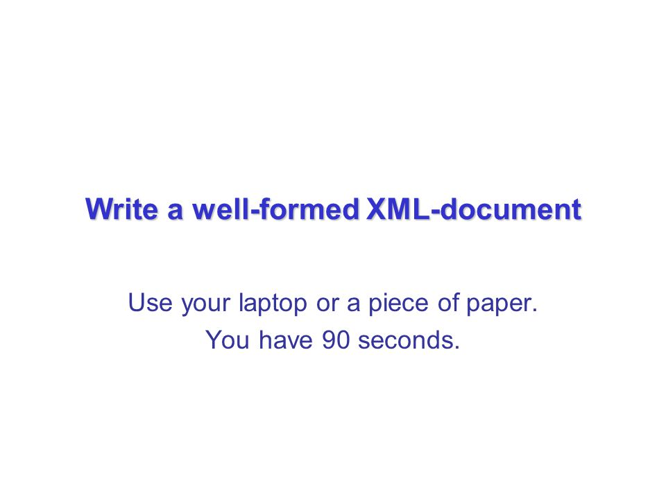 15 An Introduction to XML and Web Technologies Tree View of the XML Recipes