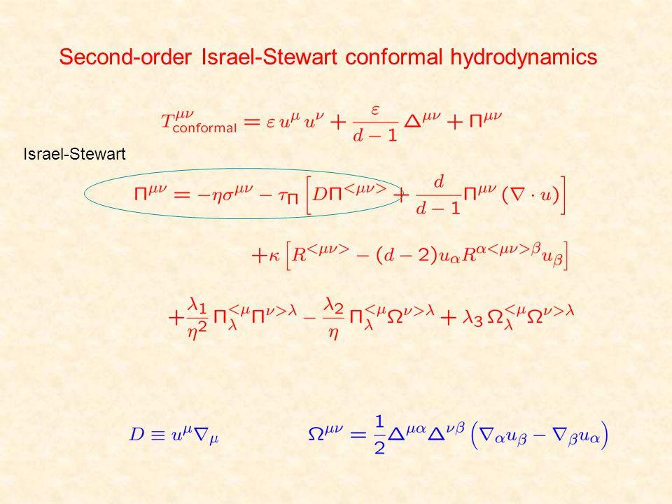 Second-order Israel-Stewart conformal hydrodynamics Israel-Stewart