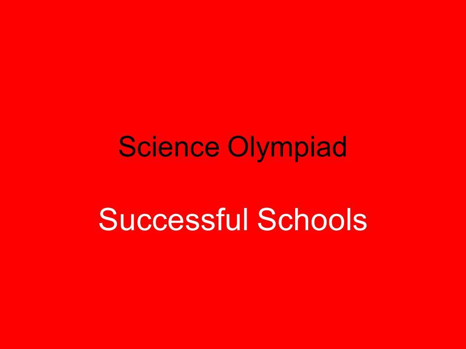Science Olympiad Successful Schools