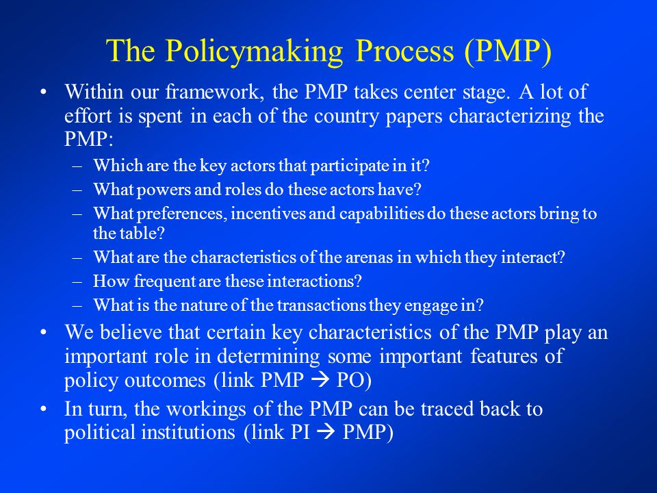 IPES 2006 State Reform, Public Policies and the Policymaking Process