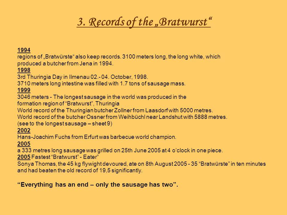 4.Interesting facts about the Bratwurst Bratwurst fixed: 14.