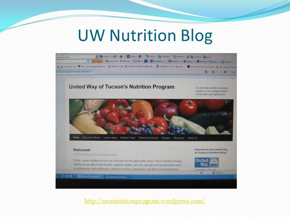 UW Nutrition Blog http://uwnutritionprogram.wordpress.com/