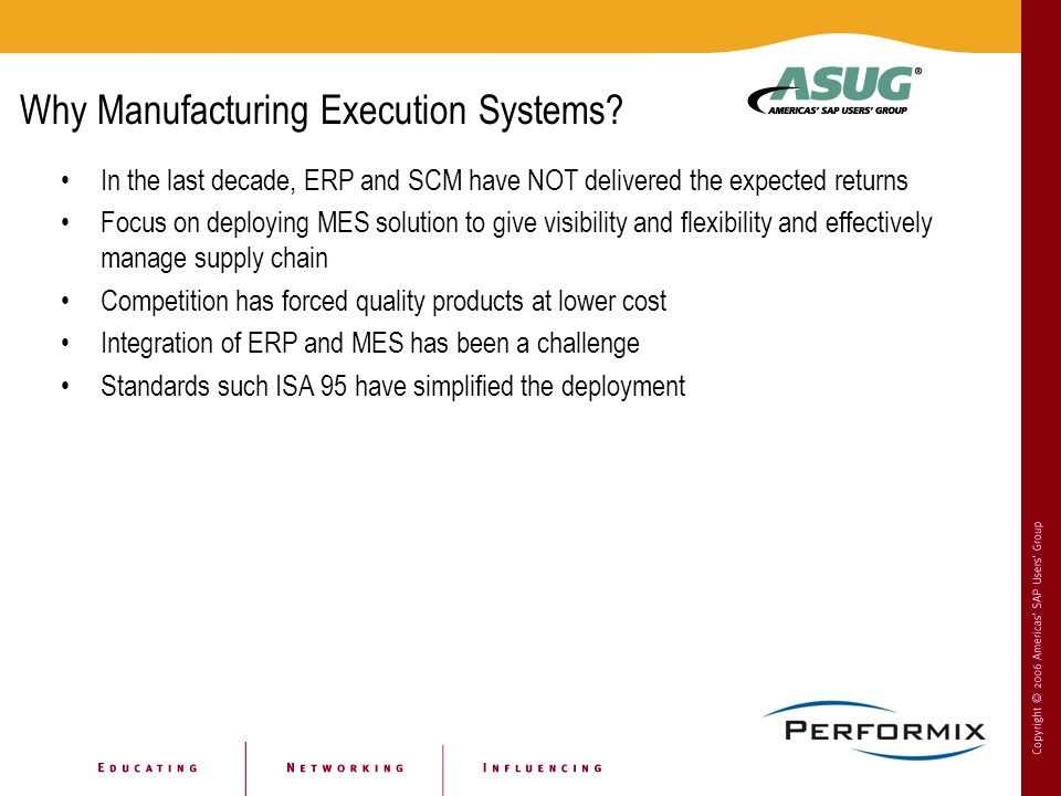 Why Manufacturing Execution Systems.