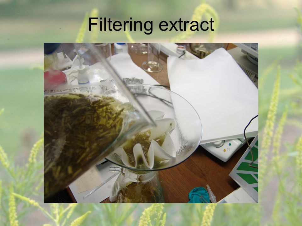 Filtering extract