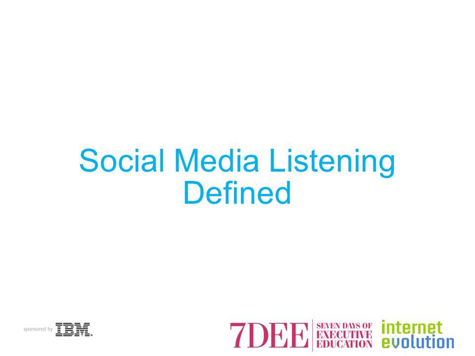 Social Media Listening Defined