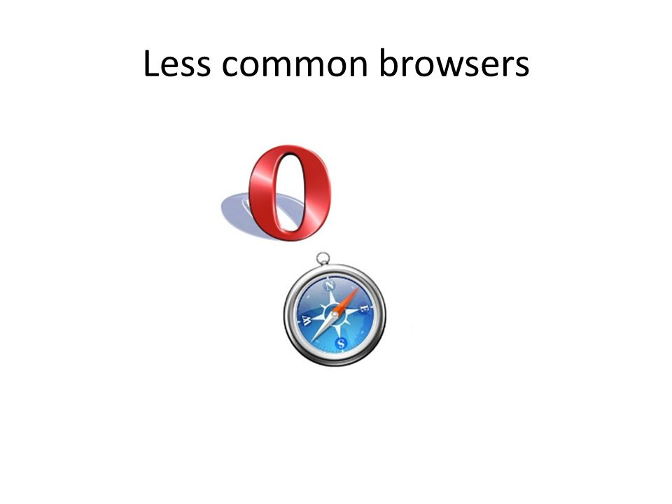 Less common browsers