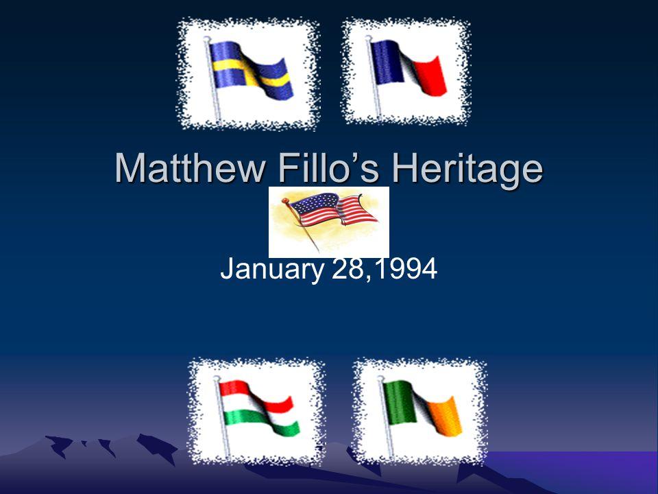 Matthew Fillos Heritage January 28,1994