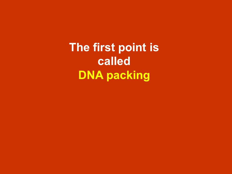 The first point is called DNA packing