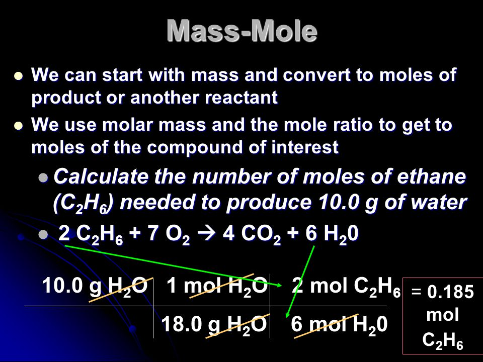 Mole-Mass Conversions Most of the time in chemistry, the amounts are given in grams instead of moles Most of the time in chemistry, the amounts are gi