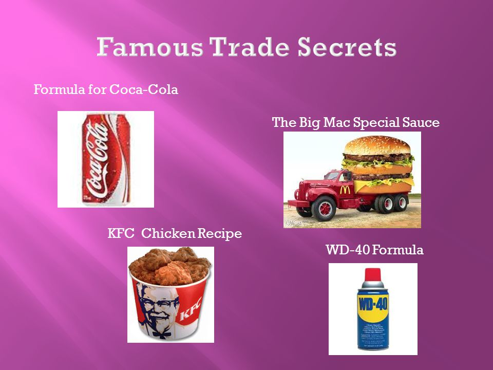 Formula for Coca-Cola The Big Mac Special Sauce KFC Chicken Recipe WD-40 Formula