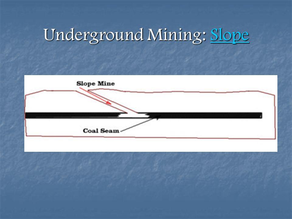 Underground Mining: Slope Slope