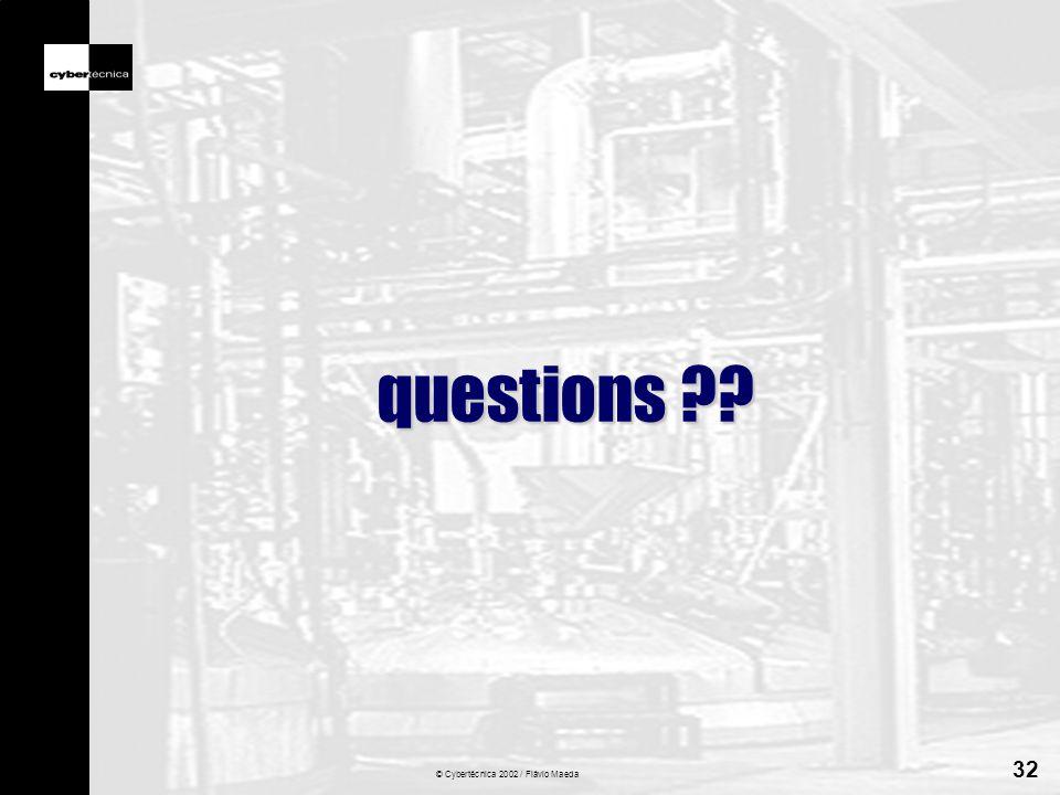 © Cybertécnica 2002 / Flávio Maeda 32 questions