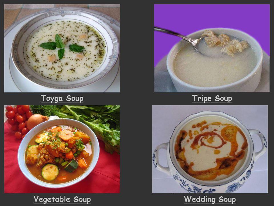 Toyga SoupTripe Soup Vegetable SoupWedding Soup