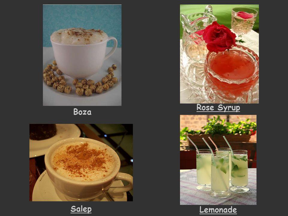 Boza Rose Syrup Lemonade Salep