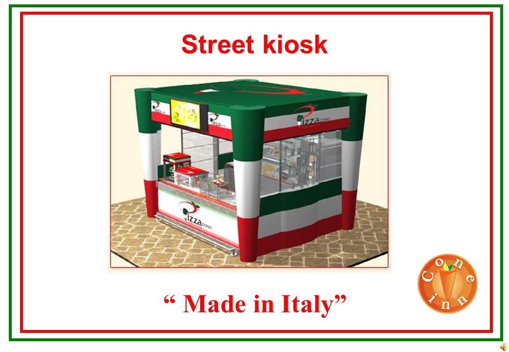 Made in Italy Street kiosk