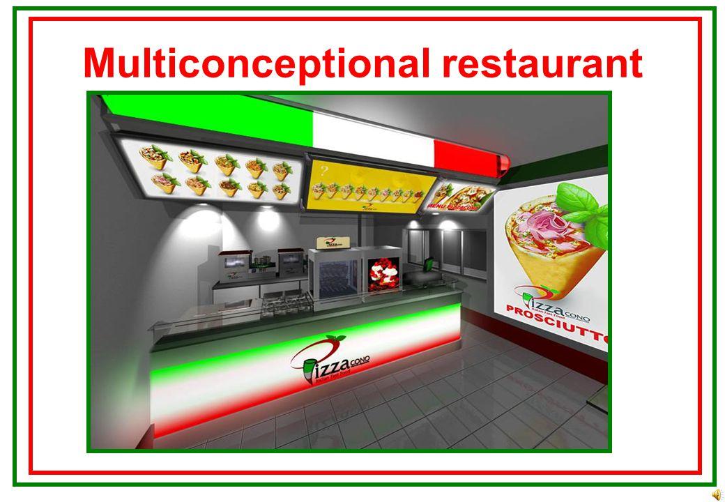 Multiconceptional restaurant