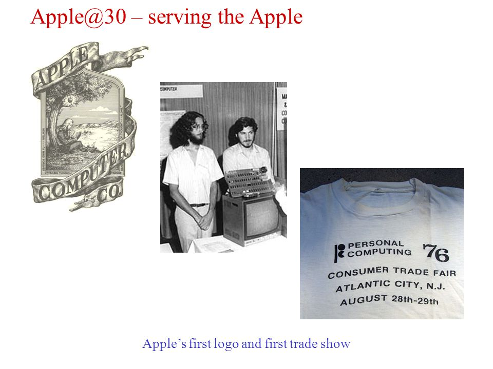 Apple@30 – serving the Apple Apples first logo and first trade show