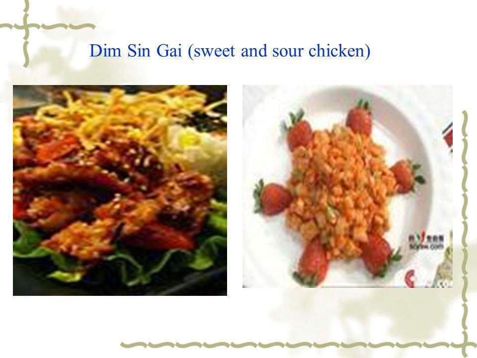 Dim Sin Gai (sweet and sour chicken)