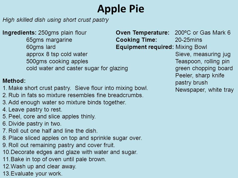 Lemon Meringue Pie Cont...Method: 1.Light oven and make short crust pastry.