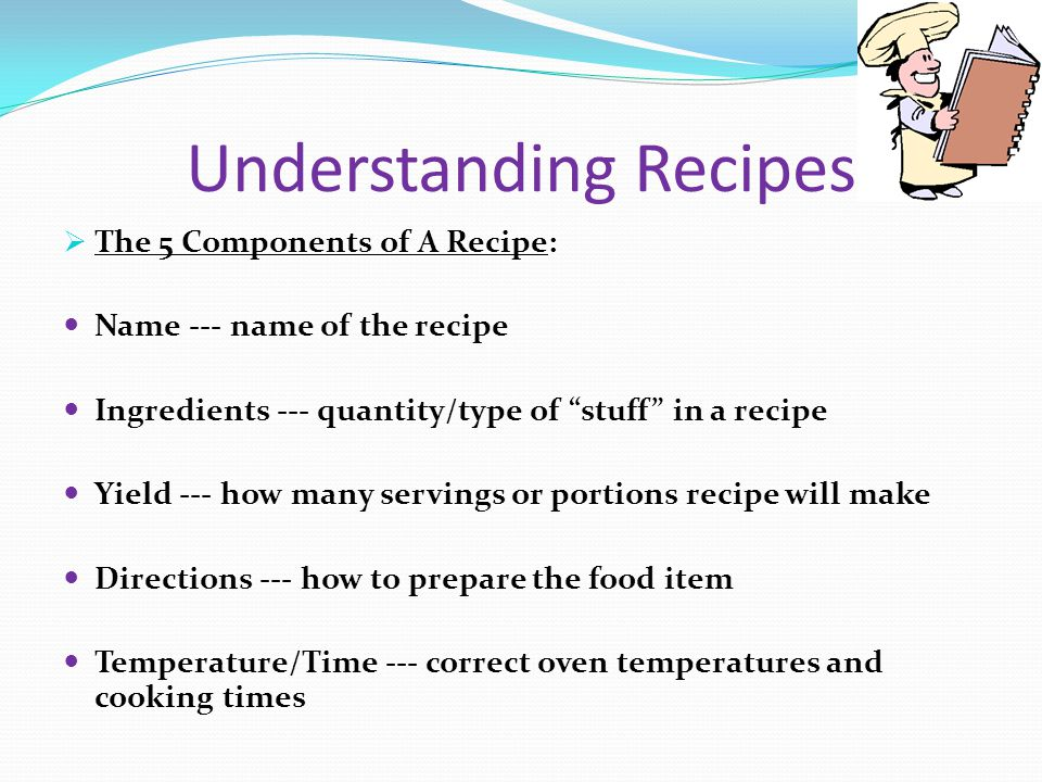 Understanding Recipes 6 Things to remember.