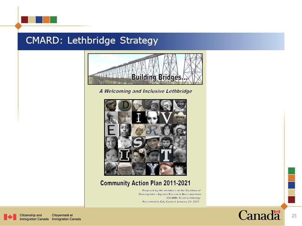 CMARD: Lethbridge Strategy 25