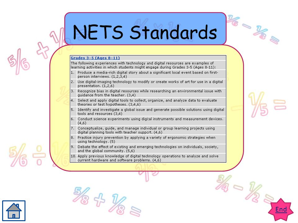 End NETS Standards