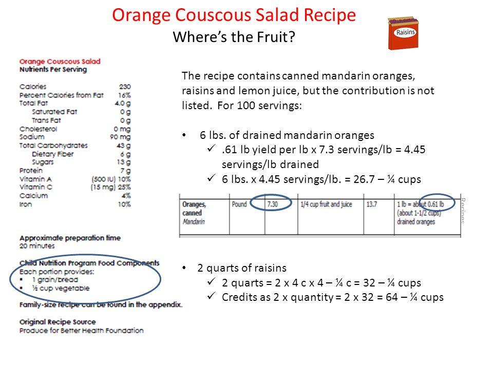 Orange Couscous Salad Recipe Wheres the Fruit.