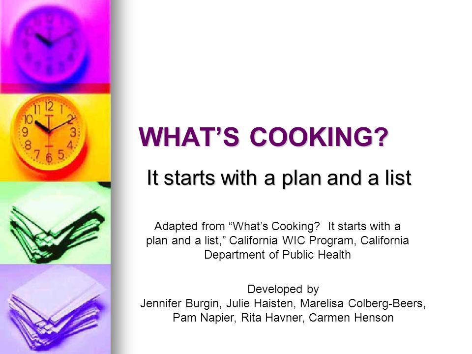 We will discuss… Meal planning Meal planning Grocery lists Grocery lists Smart shopping tips Smart shopping tips