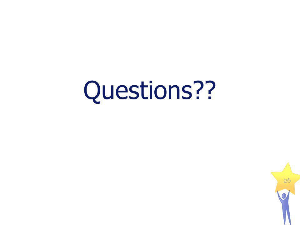 Questions?? 26