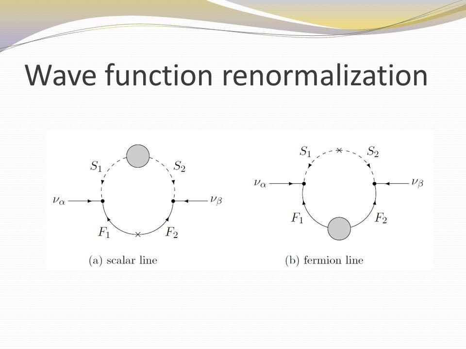 Wave function renormalization